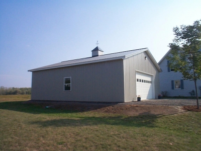 Detached 2 car post frame garage and utility building