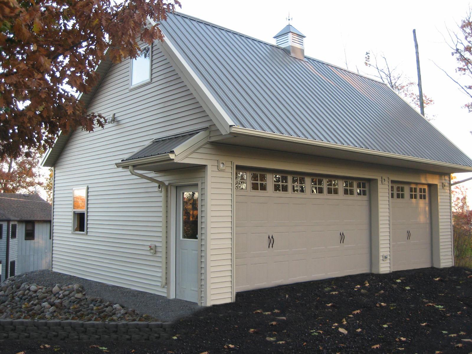 Garage storage building post frame pole barn metal for Garage building contractors