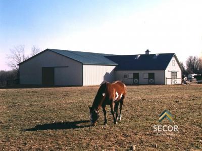 Postframe Pole Barn Livestock Building Construction NY